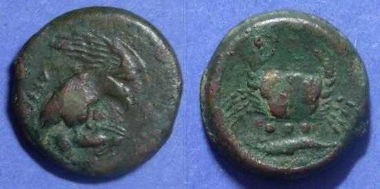 Ancient Coins - Akragas, Sicily 420-406 BC, Tetras