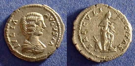 Ancient Coins - Julia Domna (wife of S. Severus) 193-217AD Denarius