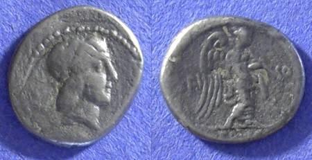 Ancient Coins - Roman Republic - L Calpurnius Piso Frugi - Quinarius - Circa 90 BC
