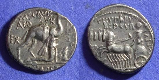 Ancient Coins - Roman Republic – Aemilia 8 Denarius 58 BC