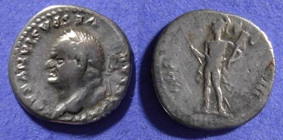Ancient Coins - Vespasian 69-79 Denarius