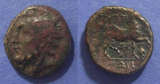 Ancient Coins - Gyrton, Thessaly Circa 350 BC, AE19