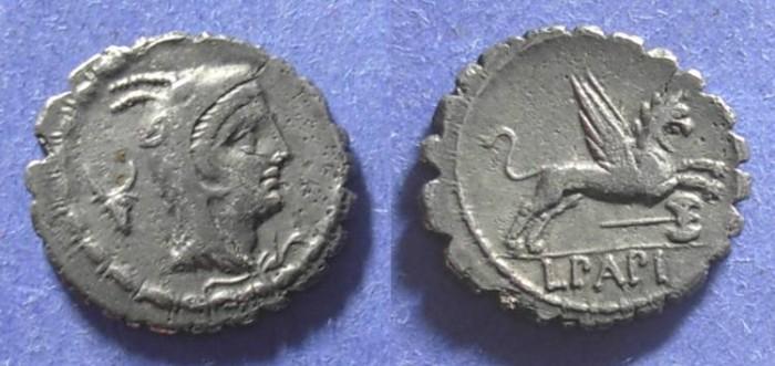 Ancient Coins - Roman Republic, L Papius 79 BC, Denarius