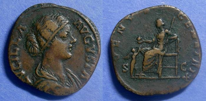 Ancient Coins - Roman Empire, Lucilla (Wife of Verus) 164-9, Sestertius