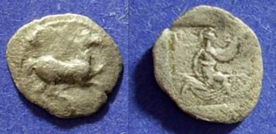 Ancient Coins - Thessaly - The Perrhaebi  Obol Circa 480-400 BC