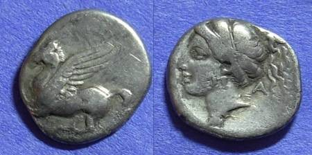 Ancient Coins - Corinth Drachm 370-340BC
