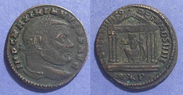 Ancient Coins - Roman Empire, Maximianus (2nd Reign) 306-8, Follis 25mm