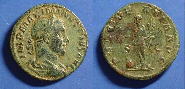 Ancient Coins - Maximinus 235-238 AD Sestertius