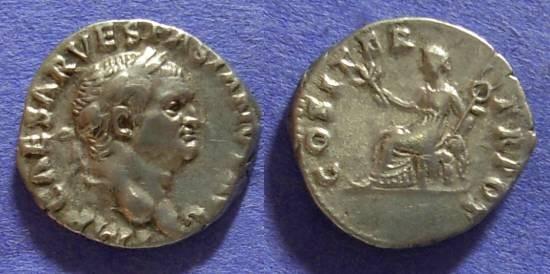 Ancient Coins - Vespasian 69-79AD – Denarius