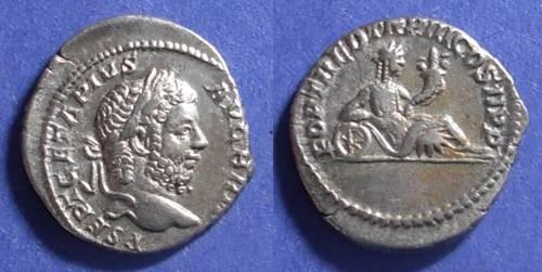 Ancient Coins - Roman Empire, Geta (as Augustus) 209-212 AD, Denarius