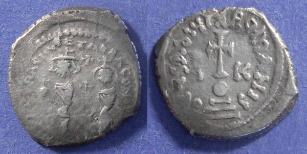 Ancient Coins - Byzantine Empire, Heraclius 610-641, Hexagram