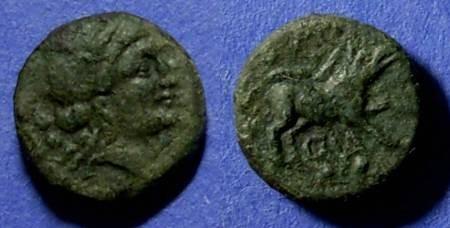 Ancient Coins - Paestrum, Lucania 1st Century BC, Sextans