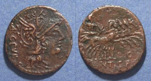 Ancient Coins - Roman Republic, L Sentius C f 101 BC, Fouree Denarius