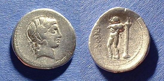 Ancient Coins - Roman Republic Denarius 82 BC