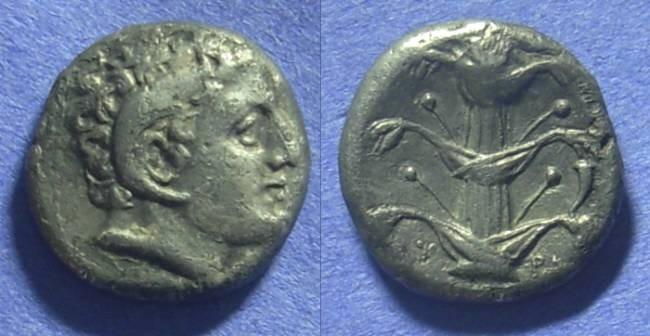 Ancient Coins - Kyrene Kyrenaica – Didrachm 308-277BC
