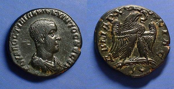 Ancient Coins - Hostilian (Caesar) 250-251 AD - Tetradrachm of Antioch