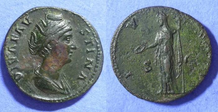 Ancient Coins - Faustina Sr d.141AD Sestertius