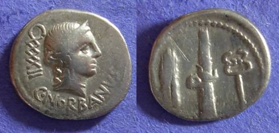 Ancient Coins - Roman Republic - Norbana 2 - 83 BC Denarius