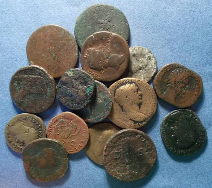 Ancient Coins - 17 Roman As to Sestertii,  Circa 50 BC to 238 AD,