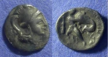 Ancient Coins - Taras Calabria – Diobol 302-281 BC