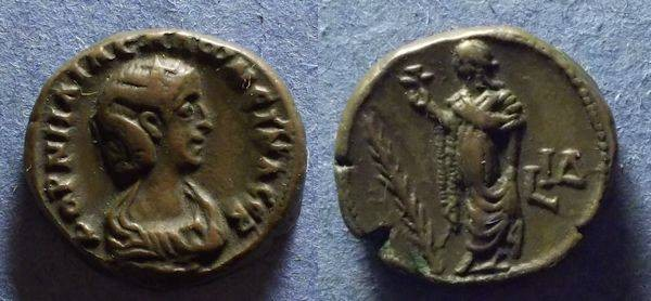 Ancient Coins - Roman Egypt, Salonina 253-268, Tetradrachm