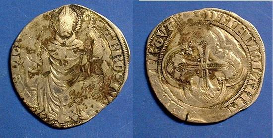 Ancient Coins - Milan Italy - Silver Pergione - Gian Galeazzo Visconti 1395-1402