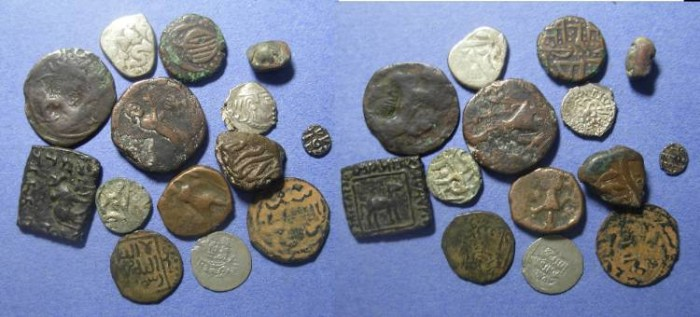 Ancient Coins - 14 coins from the Middle East & Southern Asia,  100AD to 1900,