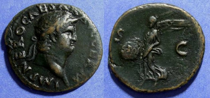 Ancient Coins - Roman Empire, Nero 54-68 AD, As