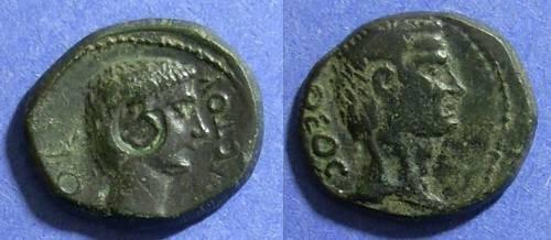 Ancient Coins - Thessalonika Macedonia, Augustus & Divus Julius Caesar 14 AD, AE20