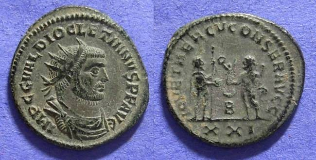 Ancient Coins - Diocletian 284-305AD Antoninianus