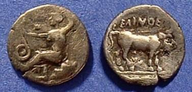 Ancient Coins - Selinos Sicily    Litra    420-410BC