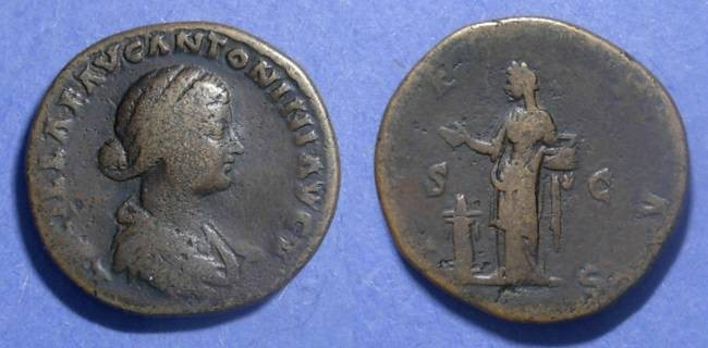 Ancient Coins - Roman Empire, Lucilla (wife of Verus) 161-9, Sestertius