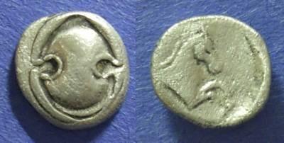Ancient Coins - Tanagra, Boeotia 387-374 BC, Obol