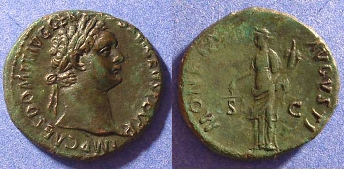 Ancient Coins - Domitian 81-96AD AE Aes