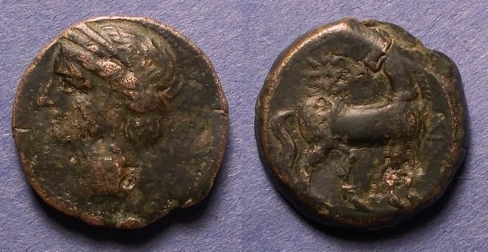 Ancient Coins - Zeugitania, Carthage 215-201 BC, Shekel