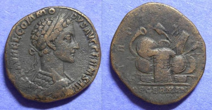 Ancient Coins - Commodus 177-192AD - Sestertius