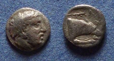 Ancient Coins - Macedonian Kingdom, Archelaos I 413-399 BC, Obol