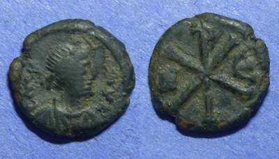 Ancient Coins - Byzantine Empire, Justin I 518-527, Pentanummium