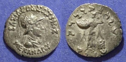 Ancient Coins - Bactria, Menander 165-139BC, Drachm