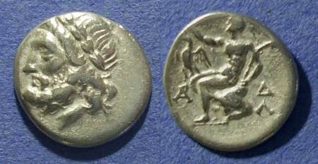 Ancient Coins - Arkadian League,  175-168 BC, Hemidrachm