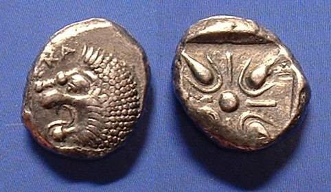 Ancient Coins - Satraps of Caria - Hekatomnos 395-377 BC - Drachm