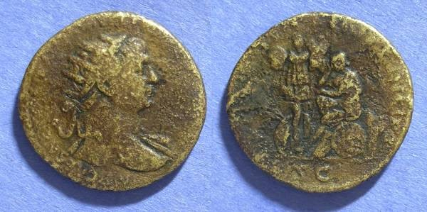 Ancient Coins - Roman Empire, Trajan 98-117, Dupondius
