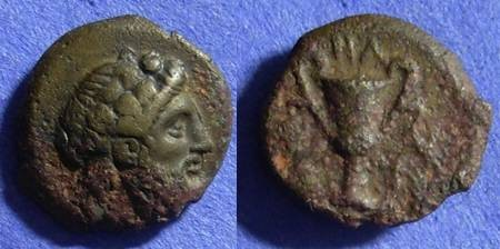 Ancient Coins - Cyclades – Naxos AE17 – Circa 350 BC