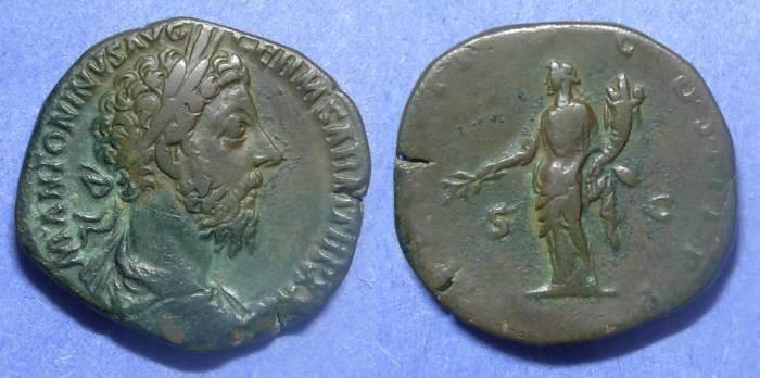 Ancient Coins - Roman Empire, Marcus Aurelius 161-180, Sestetrtius