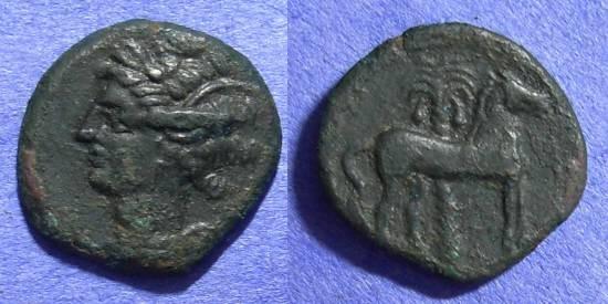 Ancient Coins - Carthage Zeugitana - AE14 - Circa 300 BC