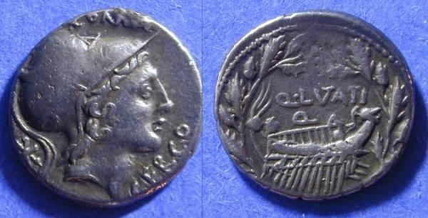 Ancient Coins - Roman Republic - Lutatia 2 Denarius Circa 109/8 BC