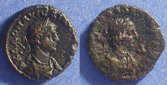 Ancient Coins - Roman Egypt - Aurelian and Vabalathus  - Potin Tetradrachm