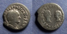 Ancient Coins - Roman Empire, Vespasian with Titus & Domitian 69-79, Denarius