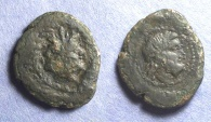 Ancient Coins - Sicily, Uncertain Roman Military Mint Circa 200 BC, AE19x22