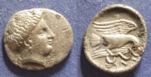 Ancient Coins - Euboaea, Chalkis 340-294 BC, Drachm